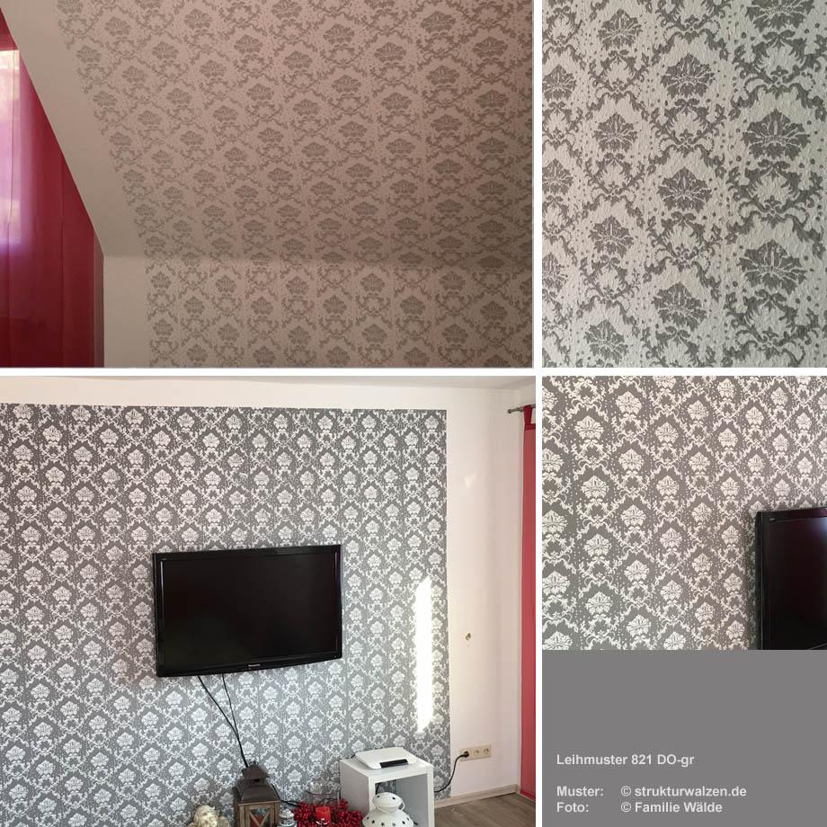 Wandgestaltung mit farbe muster schlafzimmer boss schlafzimmer essenza bettw sche sale - Muster an wand ...