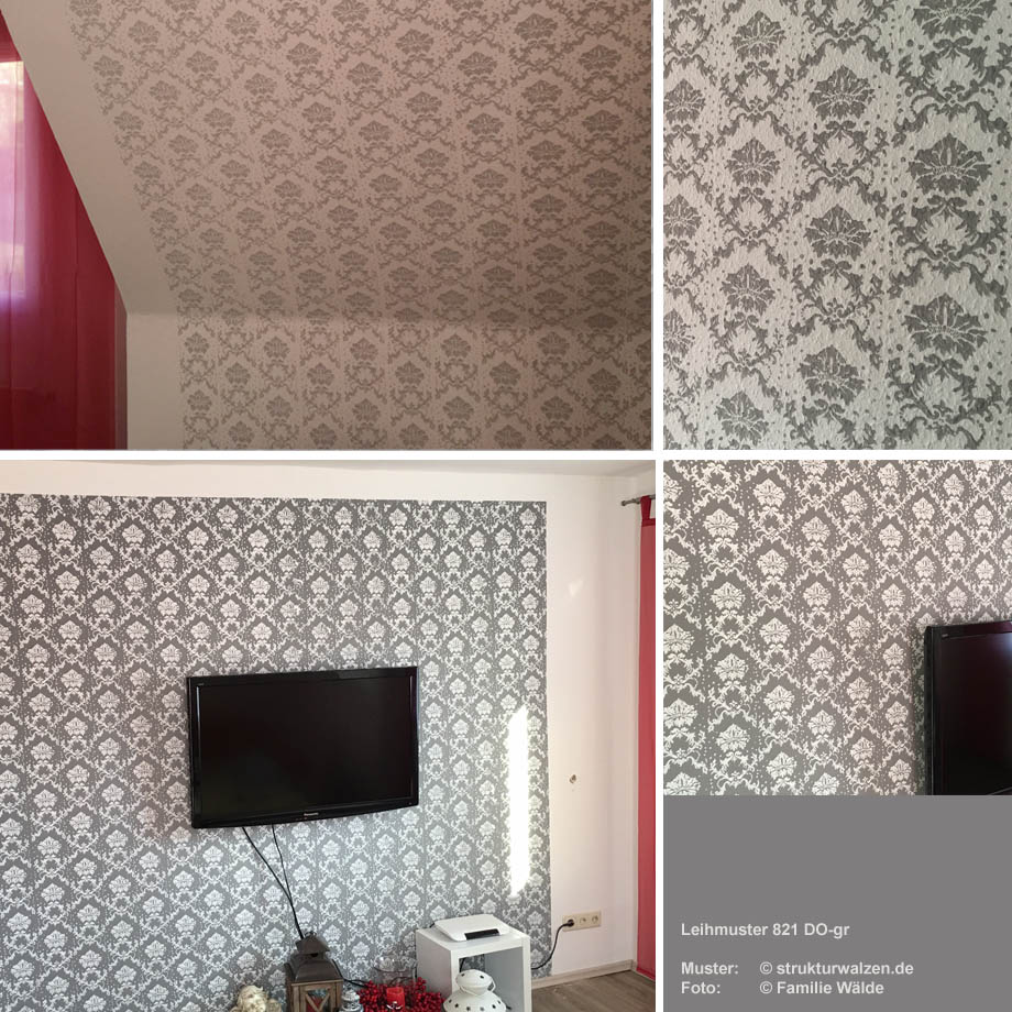 Muster und stempel mit barockem muster - Muster an wand ...