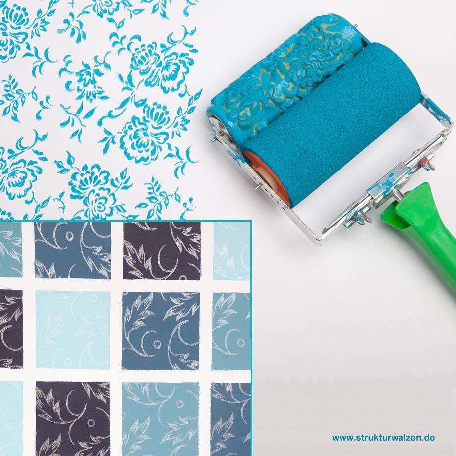 Ideen Für Die Wandgestaltung In Blau Und Blautönen. Blaue