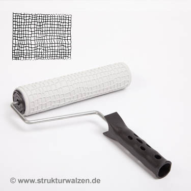 Decorative paint and embossement roller with snake skin