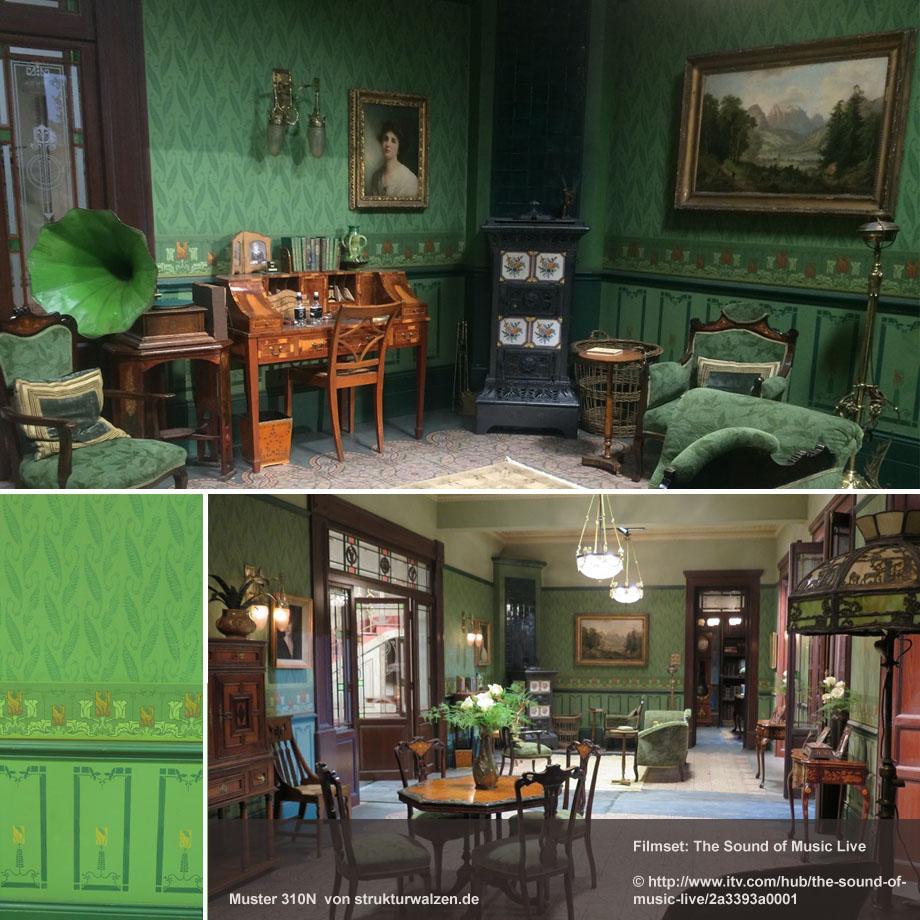 Film Set Decoration für Wand / Szenenbild