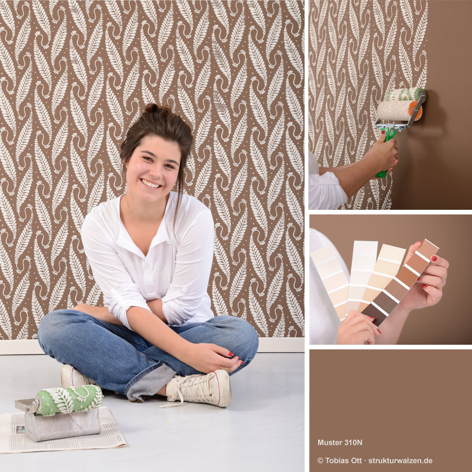 Examples for wall design with patterned paint rollers in ...