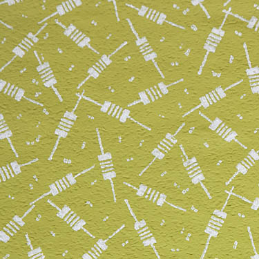 patterned paint roller 1624 on ingrain wallpaper