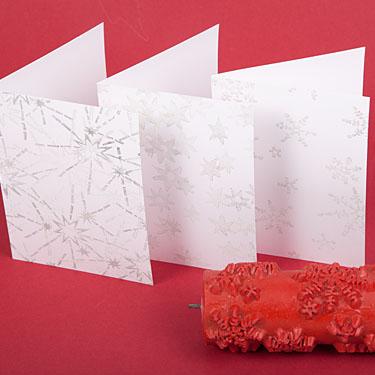 postkarten weihnachtskarten selber machen und mit sternen stempeln. Black Bedroom Furniture Sets. Home Design Ideas