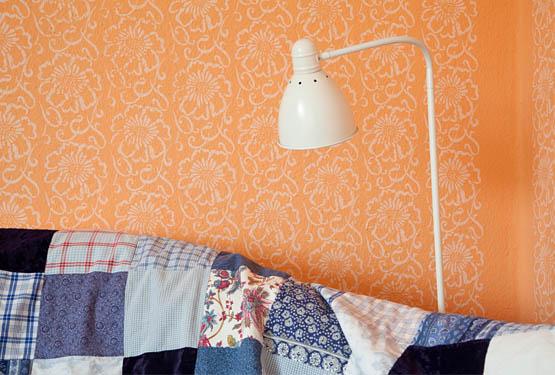 Strukturwalzen und musterwalzen w nde stoff papier - Wandgestaltung mit stoff ...