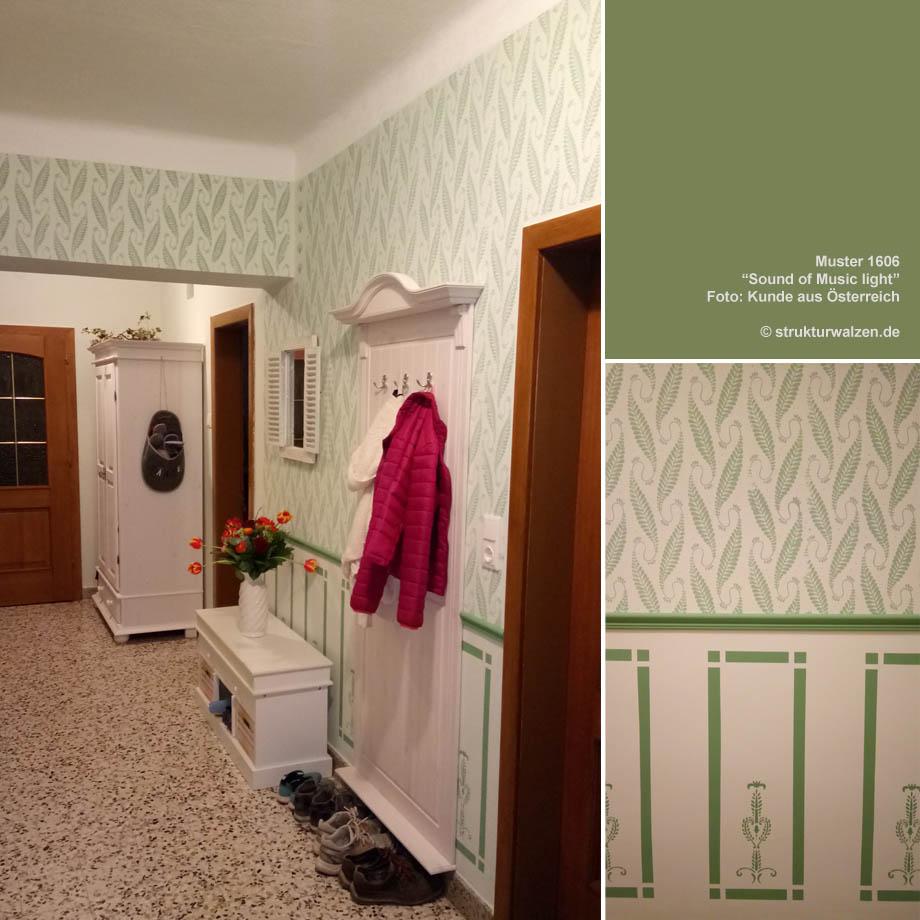 Wunderschön Muster Wand Referenz Von Mit Ter Und Schablone