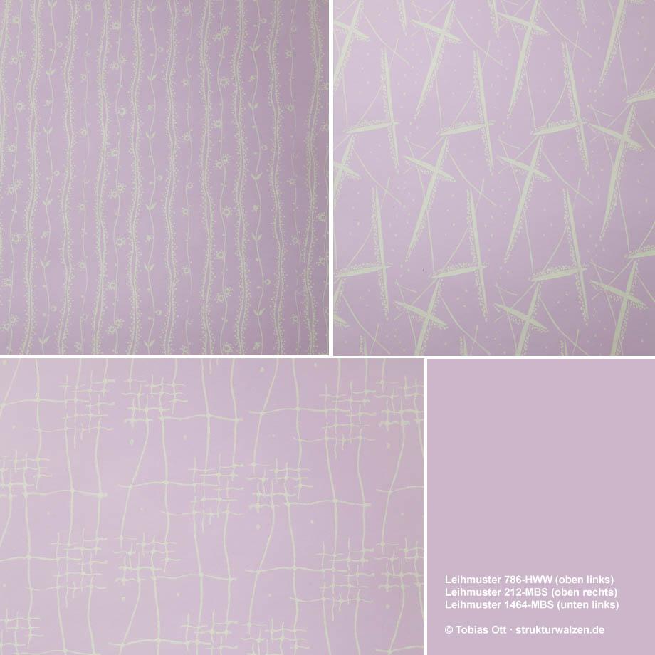 Wandgestaltung mit Mustern auf Rosa