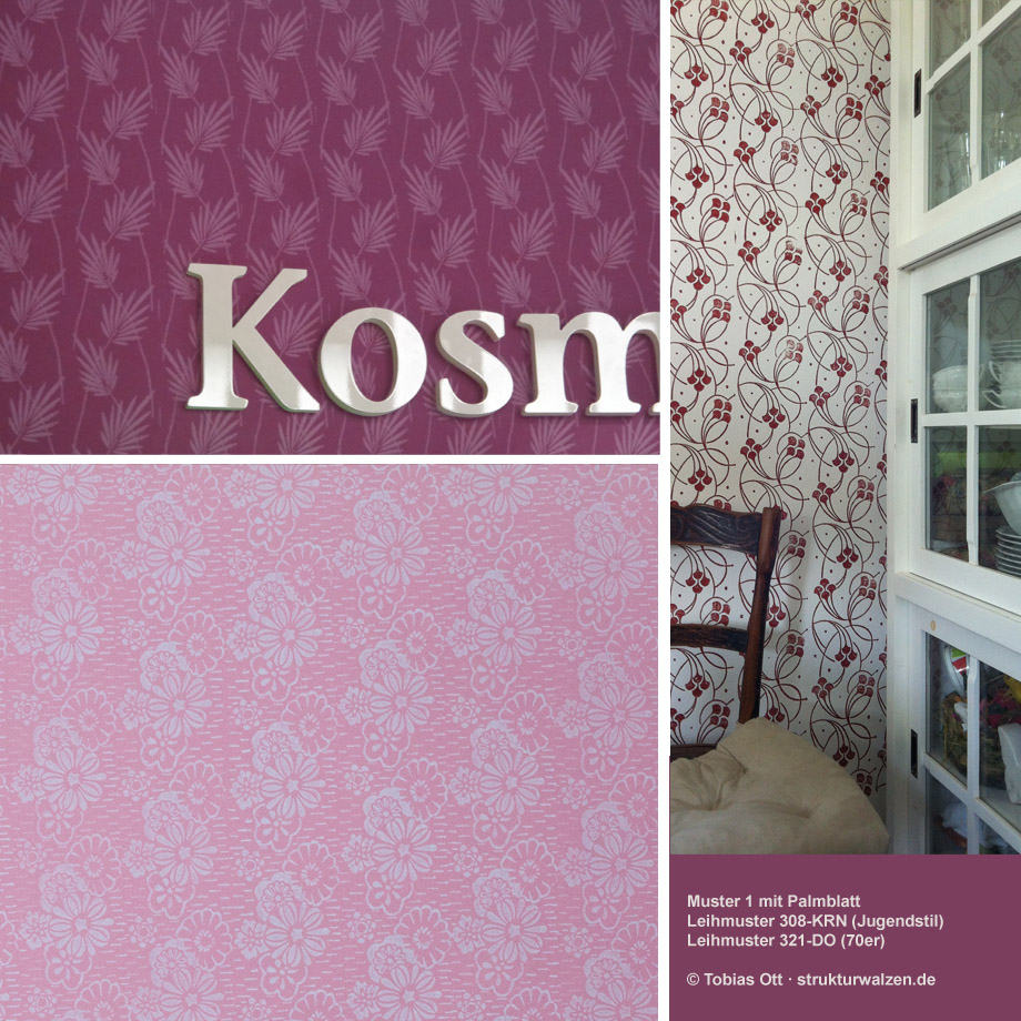 Examples for mural / wall design with patterned paint rollers in ...
