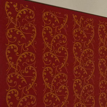 Wandentwurf mit muster im jugendstil jugendstilelemente - Jugendstil wandgestaltung ...