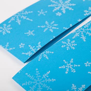 Weihnachtskarten selber drucken einfach sch ne muster walzen - Weihnachtskarten selber drucken ...