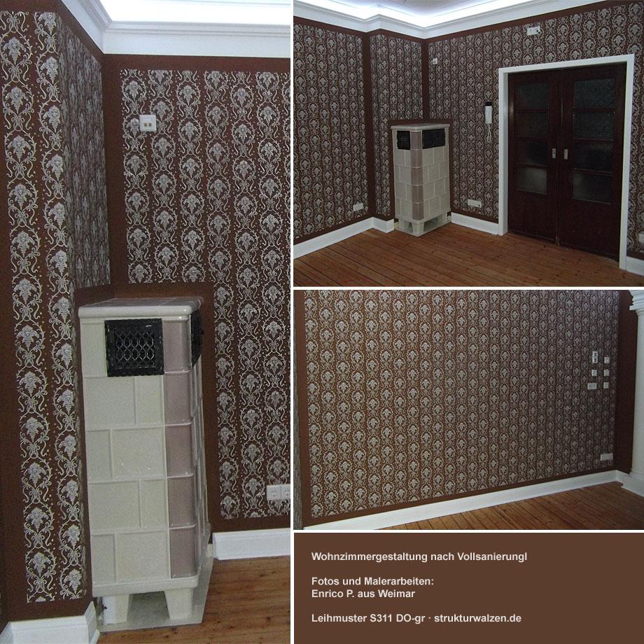 Wohnzimmergestaltung Nach Vollsanierung Mit Barockmuster