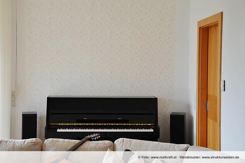 ideen und beispiele f r wand mit muster im wohnzimmer. Black Bedroom Furniture Sets. Home Design Ideas